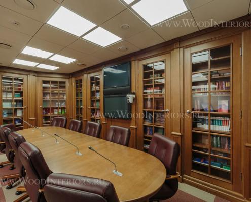Деревянный интерьер зала конференций. ФНП. Фото2