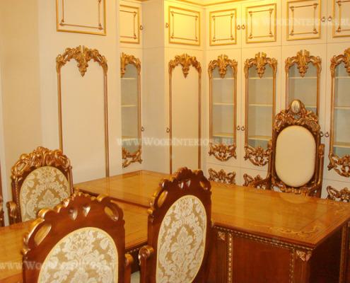 Деревянный интерьер кабинета. Фото2