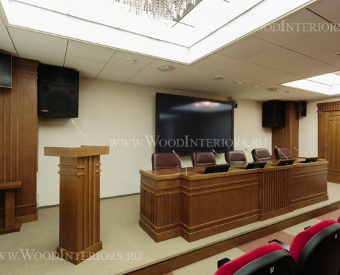 Деревянный интерьер зала конференций. ФНП. Фото4