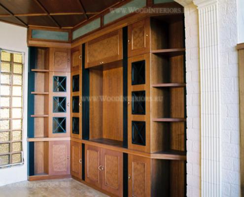 Деревянная мебель в интерьере квартиры. Фото5