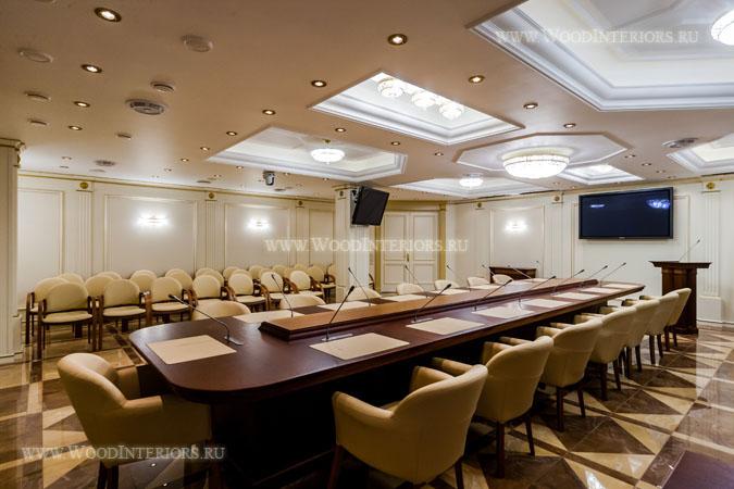 Деревянный интерьер зала заседаний. ФНП. Фото7