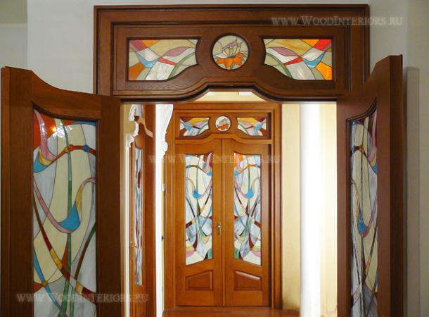 Витражная межкомнатная дверь. Студенческая. Фото 8