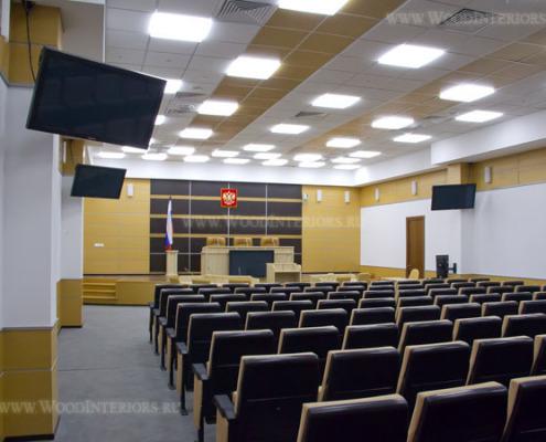 Шпонированные панели в интерьере залов заседаний. Фото 2