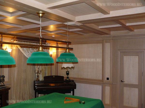 Деревянные стеновые панели в бильярдной. Фото 3