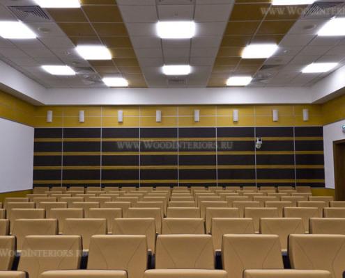 Шпонированные панели в интерьере залов заседаний. Фото 4