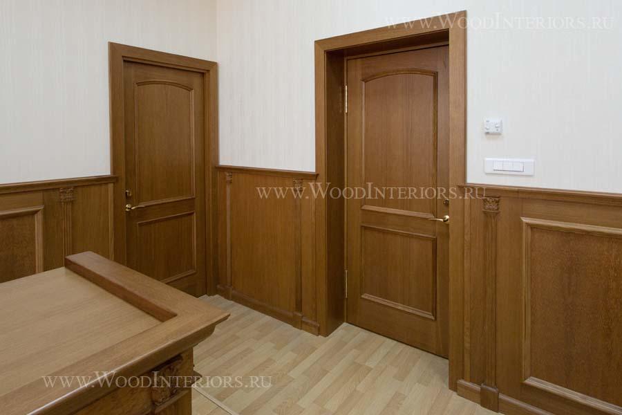 Панели из массива дерева в интерьерах залов заседаний. Фото 4