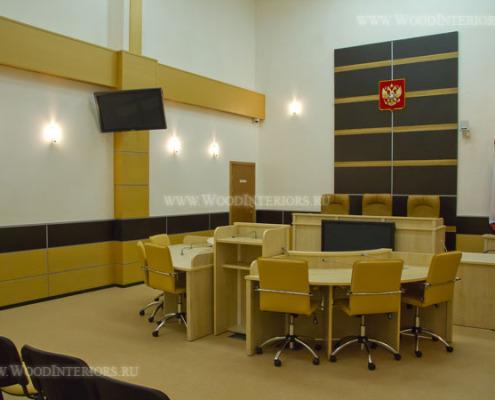 Шпонированные панели в интерьере залов заседаний. Фото 5