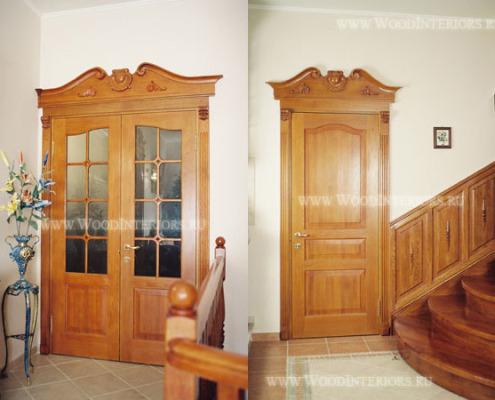 Деревянные двери на заказ.