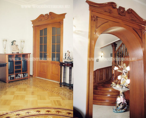 Деревянная двухстворчтая дверь Малаховка