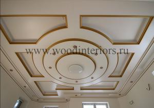 Деревянный кессонный потолок. Петрушино5