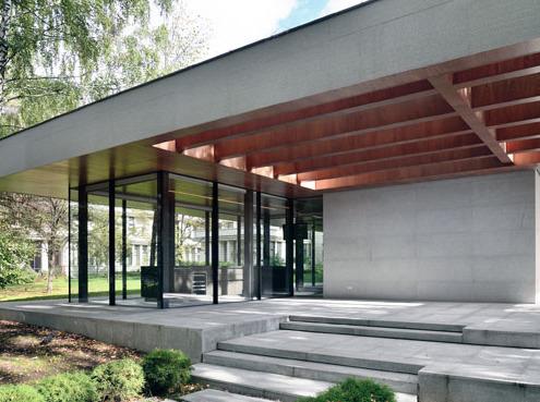 Отделка павильона деревянными панелями в поселки Заречье