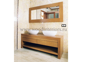 мебель из дерева на заказ. ванная. Ксенинский