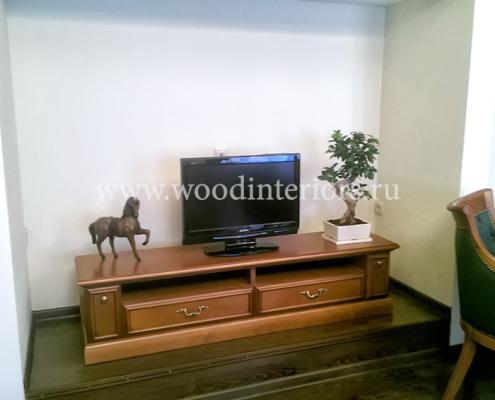 мебель из дерева на заказ. тумба под ТВ. Дептранс