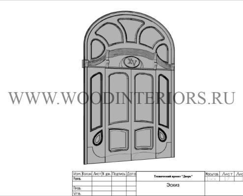 Деревянная входная дверь из массива. Ростов