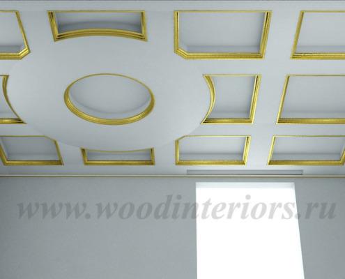 Кессонный потолок. Дизайн. Петрушино5