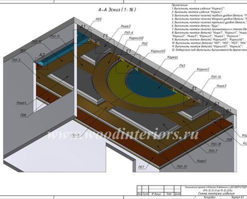 Кессонный потолок. Проектирование2. Петрушино 5