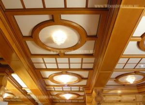 Кессонный потолок. горки гостиная