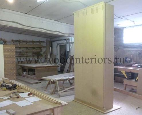 Мебель из дерева на заказ. Шкаф для одежды. Изготовление 1. Староконюшенный