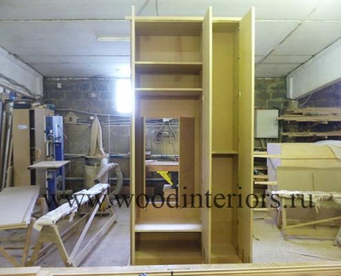 Мебель из дерева на заказ. Шкаф для одежды. Изготовление 2. Староконюшенный