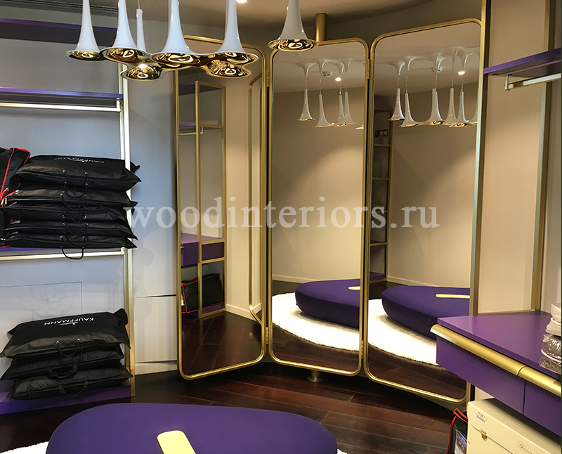 Мебель из дерева на заказ для гардеробной комнаты №208