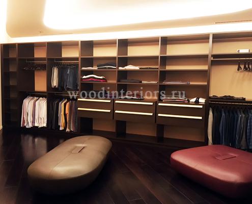 Шкафы для одежды из венге