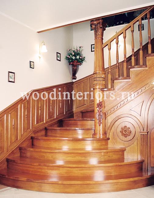 Деревянная лестница на заказ. Отделка бетонной лестницы