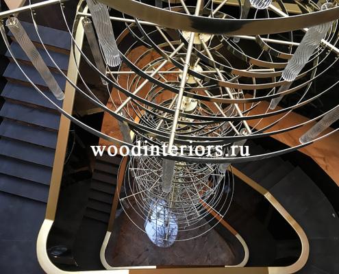 Деревянная лестница на заказ. Отделка лестницы деревом
