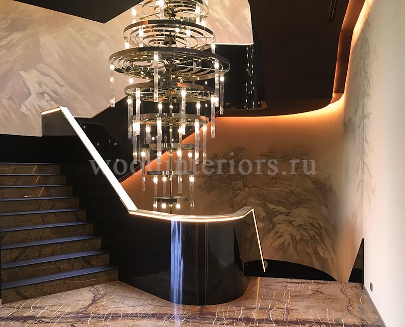 Деревянная лестница на заказ. Отделка лестницы на бетоне