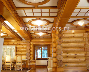 Деревянный кессонный потолок