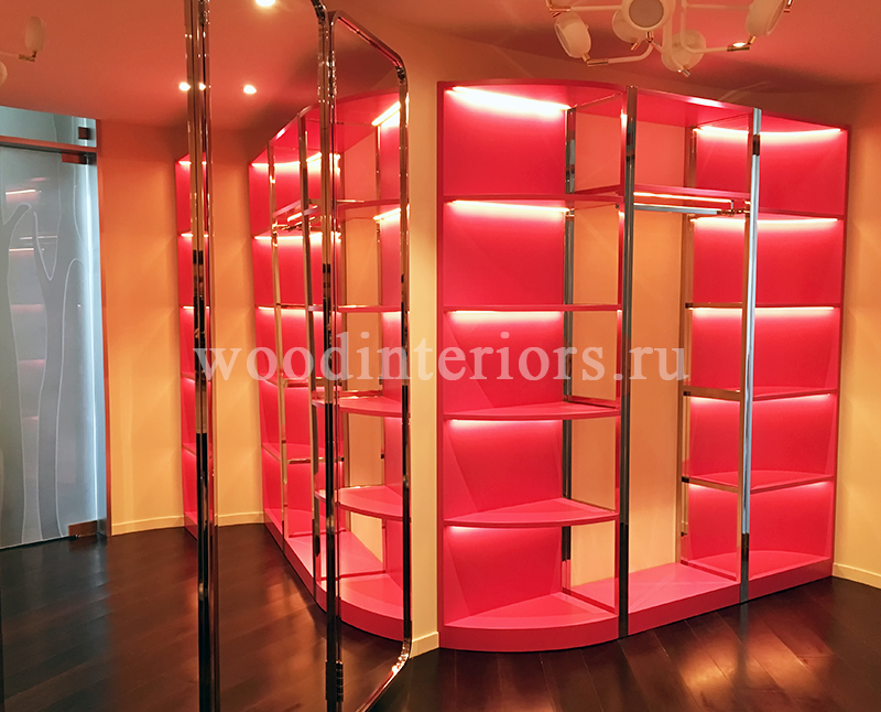 Мебель из дерева на заказ для гардеробной комната №215