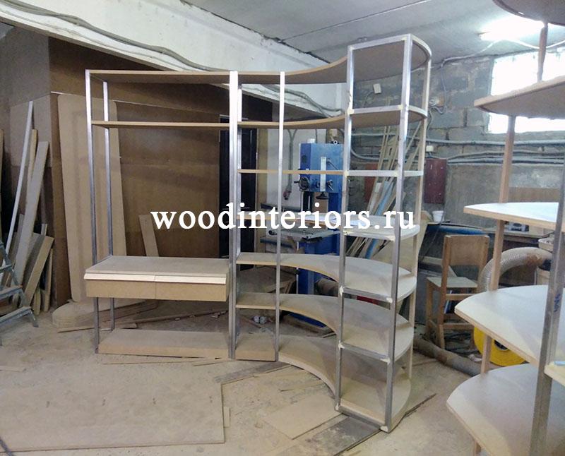 Мебель из дерева на заказ для гардеробной №208. Изготовление