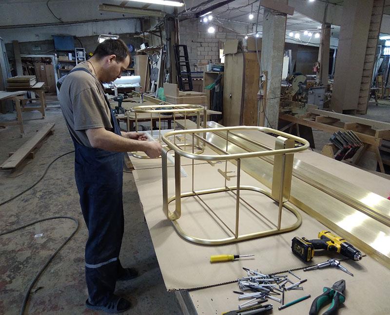 Мебель из латуни. Процесс изготовления