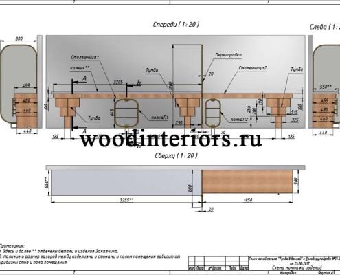 мебель из дерева и латуни для ванной