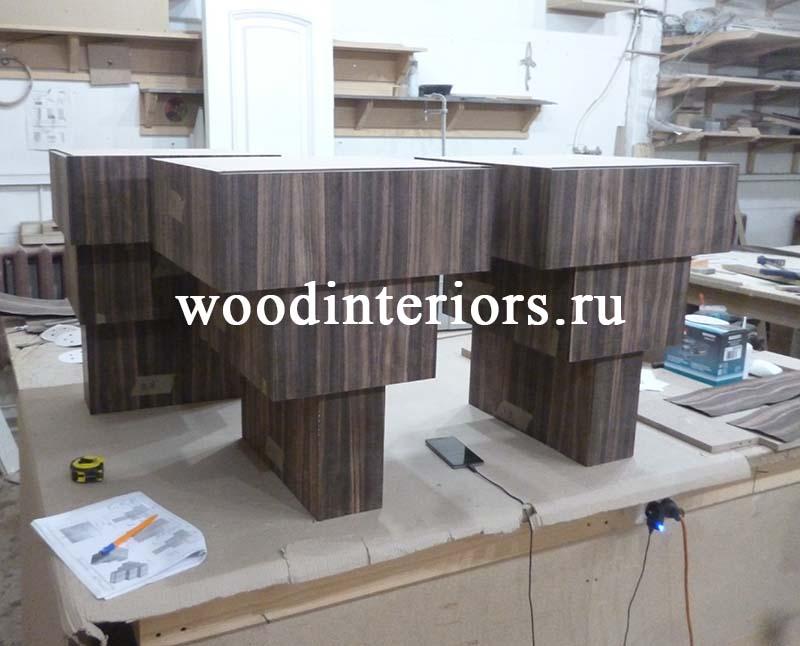 Мебель из дерева на заказ для ванной комнаты. Этап изготовления