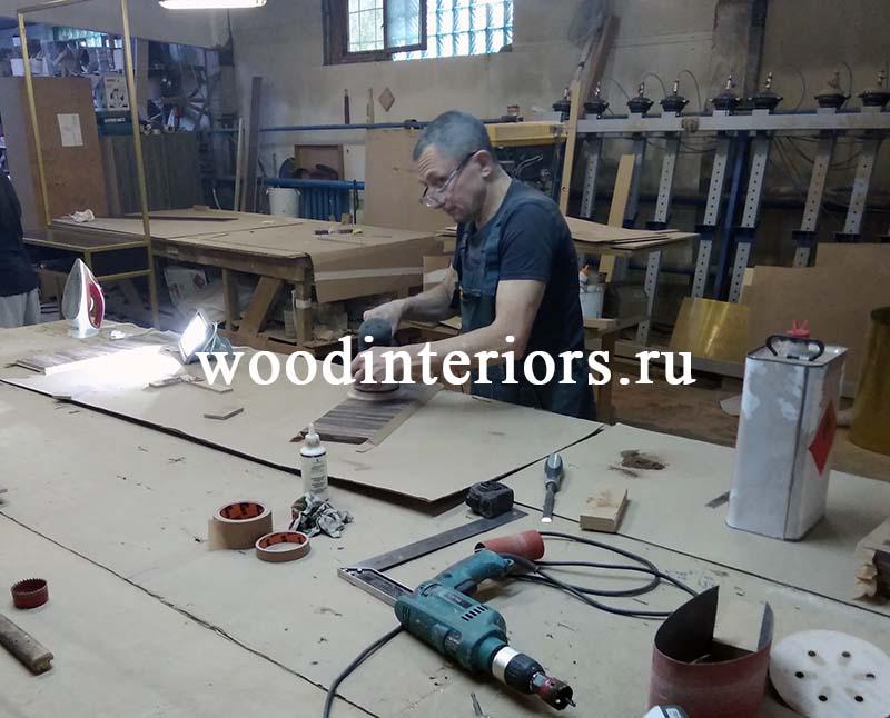 Мебель из латуни и дерева. Изготовление.