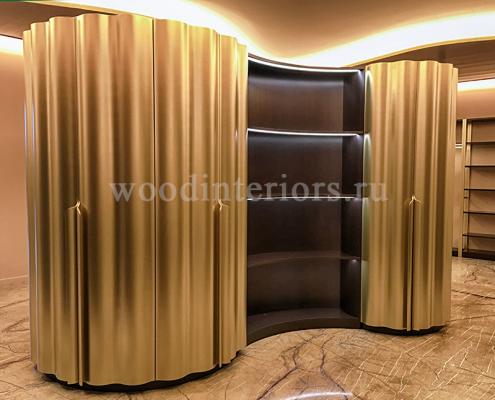 Шкаф с гнутыми волнистыми фасадами