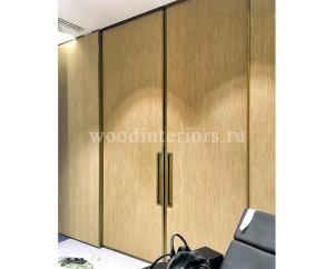 Двери из латуни. Раздвижные двери в латунной раме. СПА