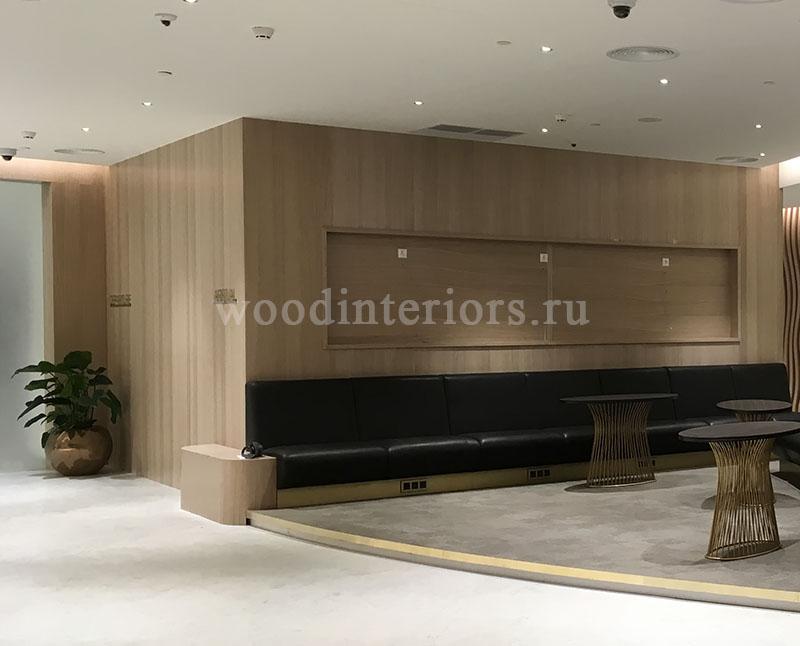 Шпонированые деревянные стеновые панели. Терминал Шереметьево-VIP 1339