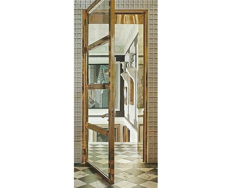 Латунные двери
