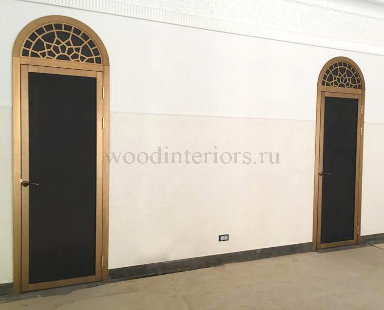 Двери из латуни патинированные под бронзу