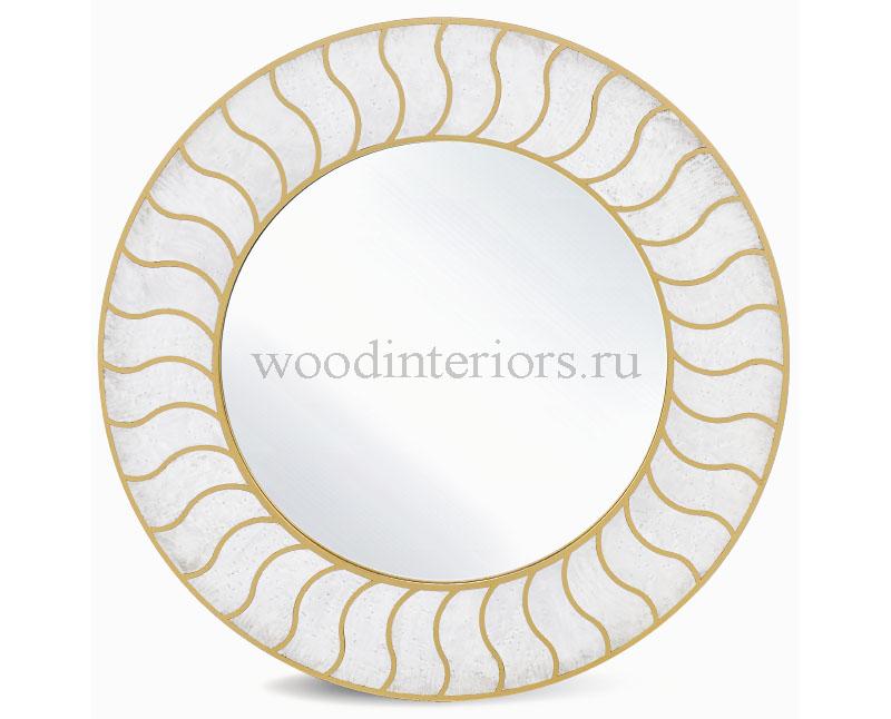 зеркало из латуни и дерева. Модель R