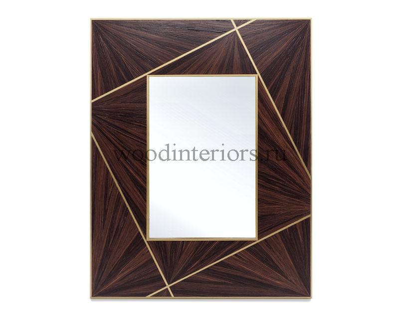 зеркало из латуни и дерева. Модель С