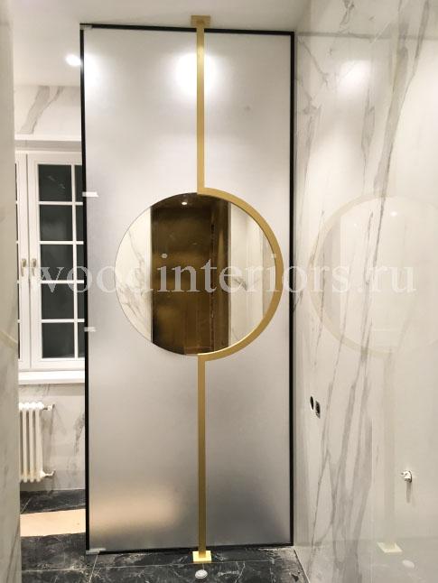 зеркало в латунной раме