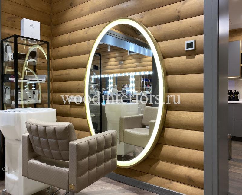 овальное зеркало из латуни Жуковка 70